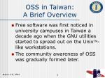 oss in taiwan a brief overview