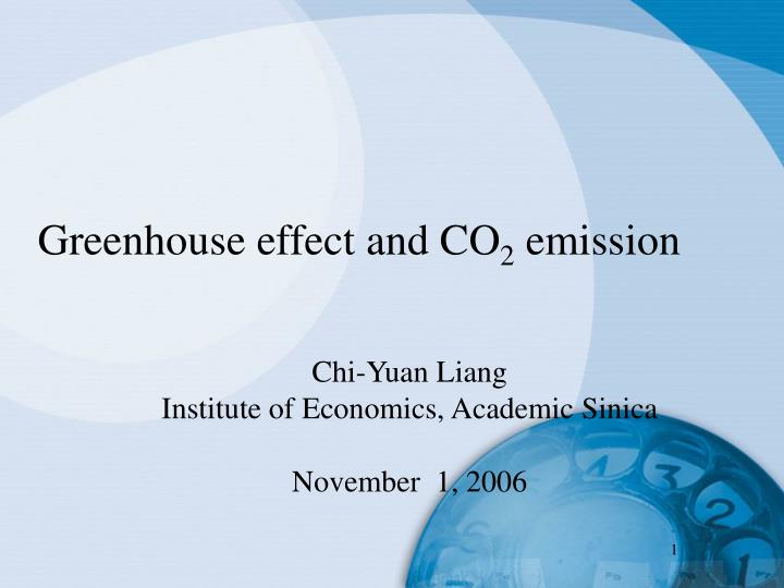 greenhouse effect and co 2 emission n.