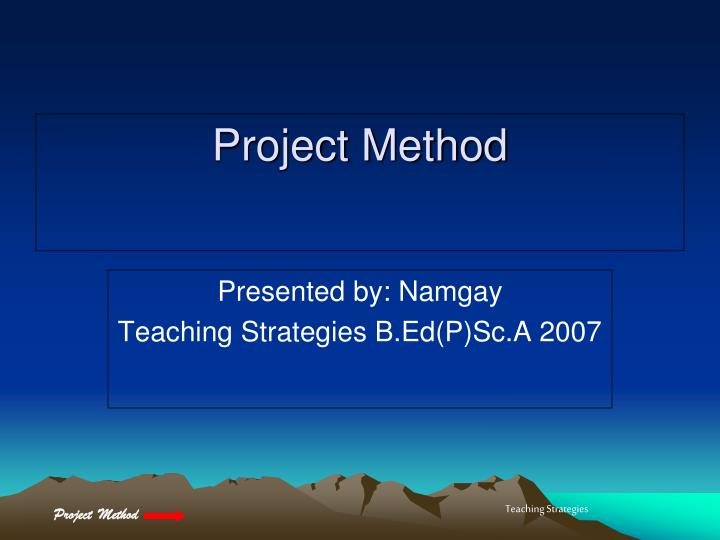 project method n.