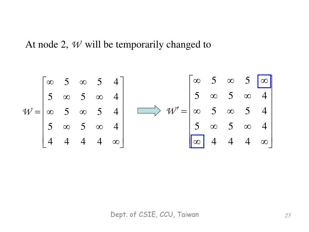At node 2,