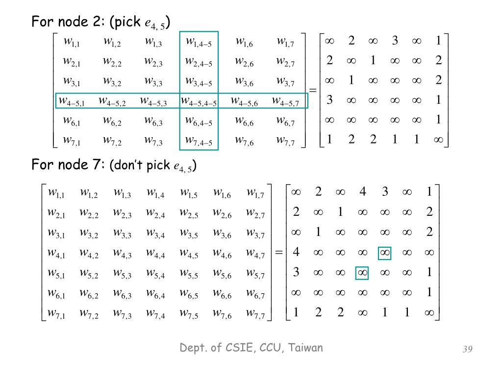 For node 2: (pick