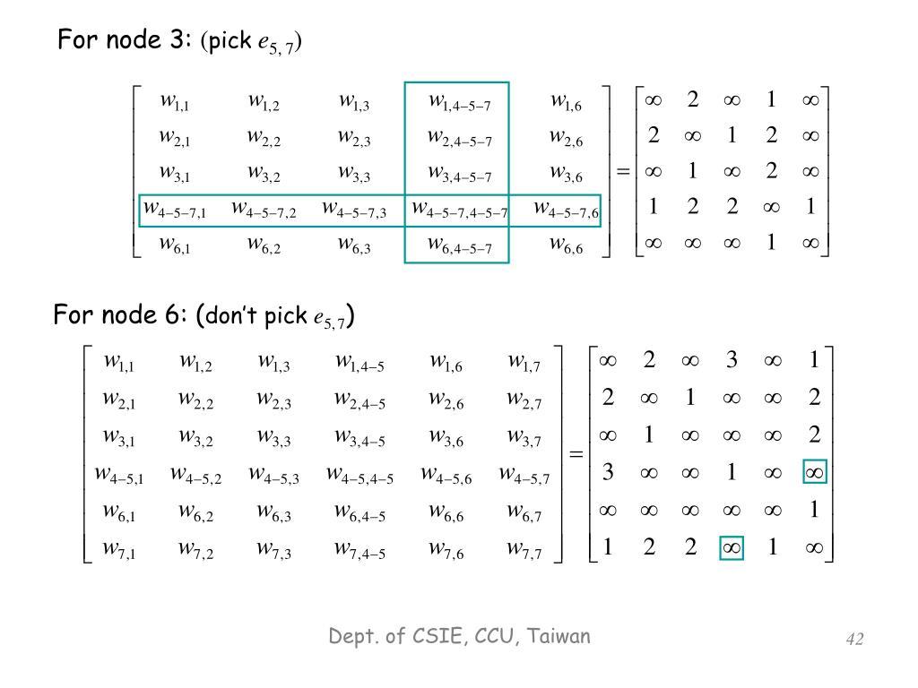 For node 3: