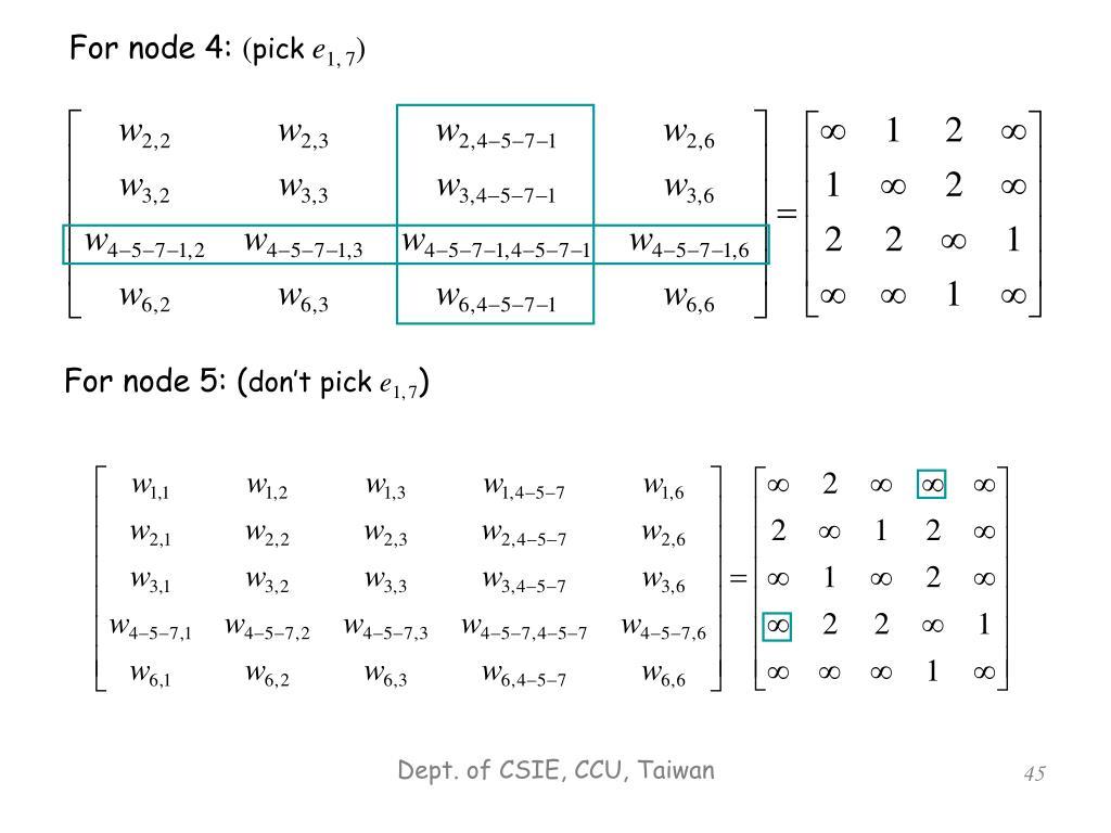 For node 4:
