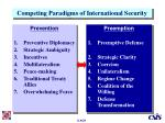 competing paradigms of international security