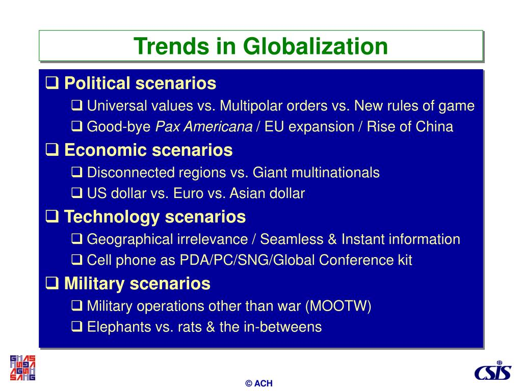 Trends in Globalization
