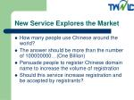 new service explores the market