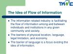 the idea of flow of information