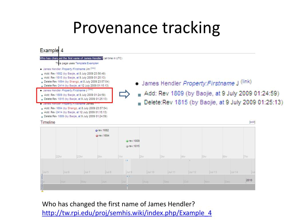Provenance tracking