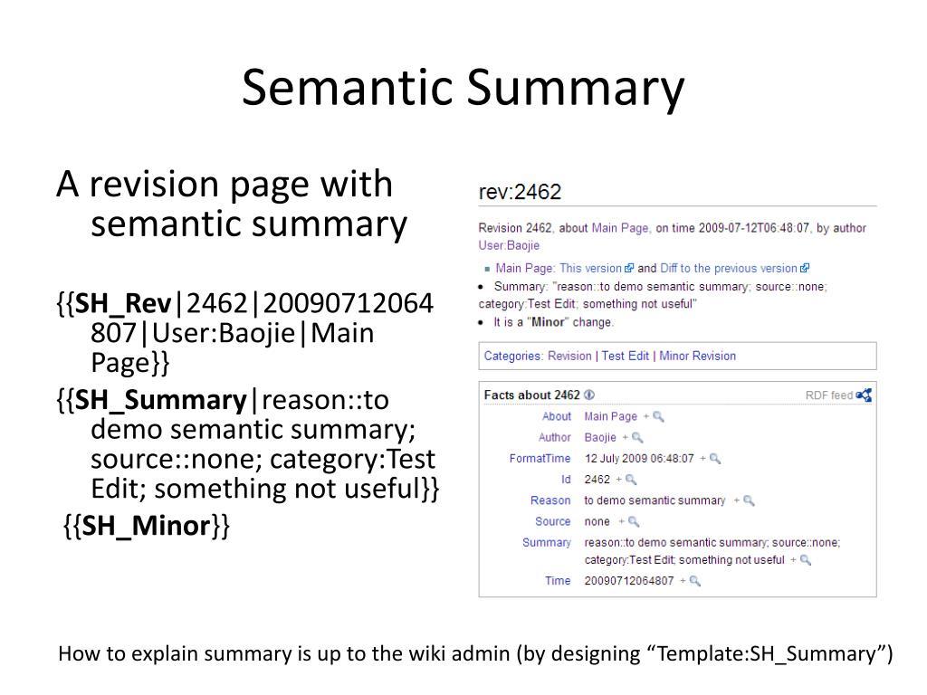 Semantic Summary