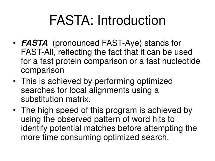Fasta introduction