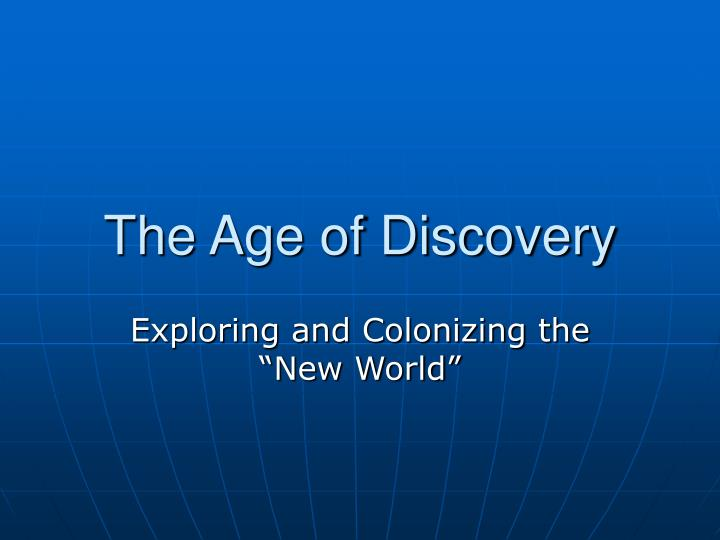 the age of discovery n.