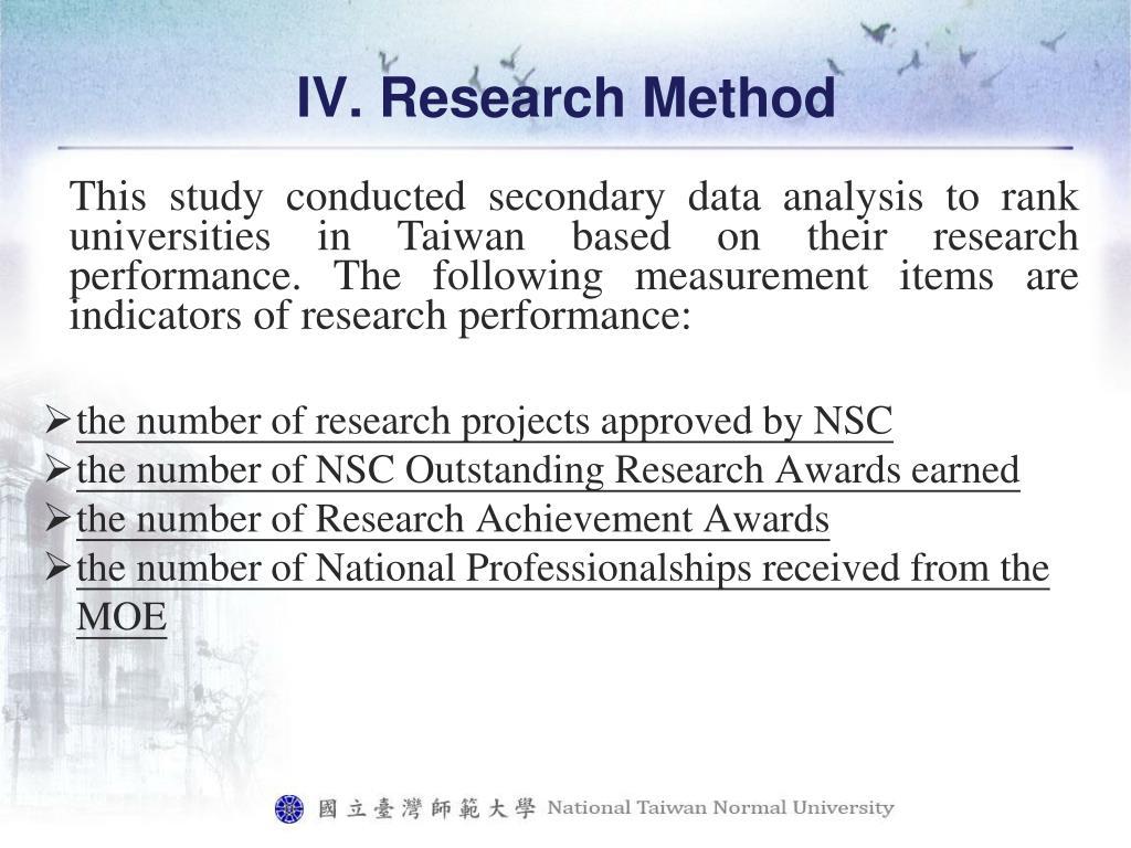 IV. Research Method