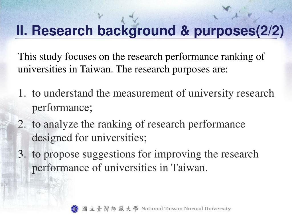 II. Research background & purposes(2/2)