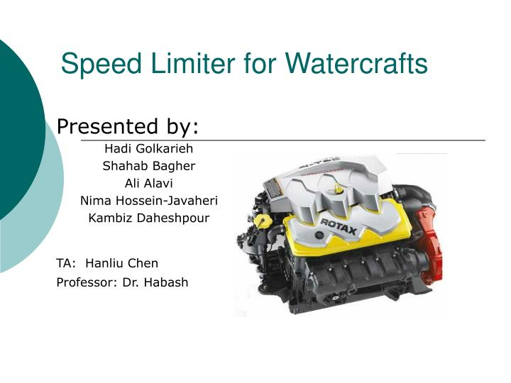 speed limiter for watercrafts n.