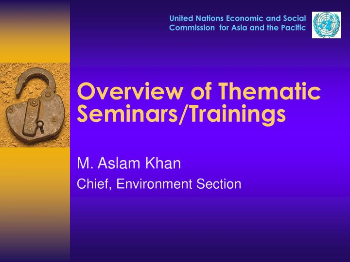 overview of thematic seminars trainings n.