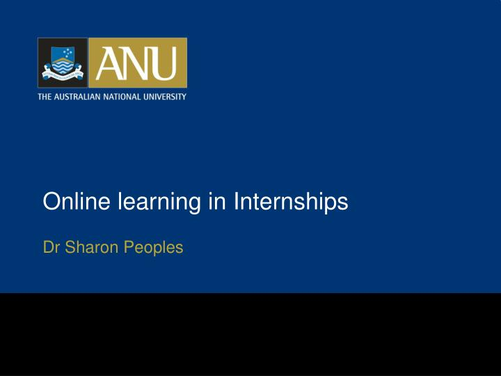 online learning in internships n.
