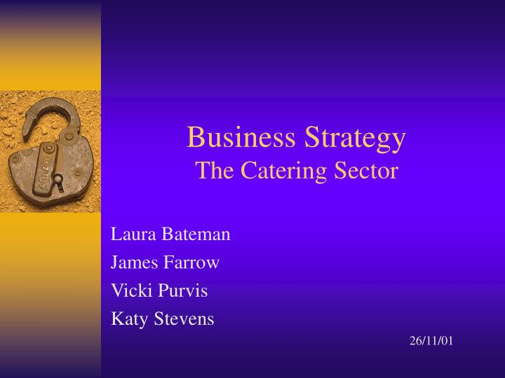 business strategy the catering sector n.