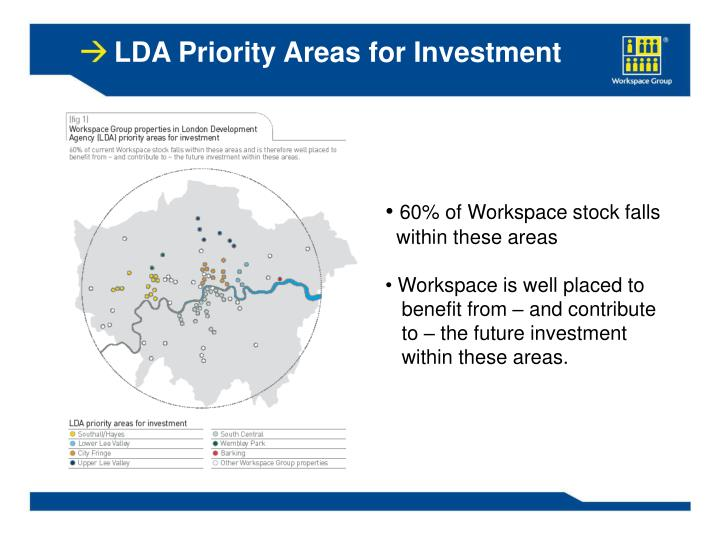 LDA Priority Areas for Investment