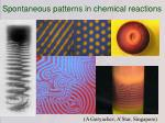 spontaneous patterns in chemical reactions
