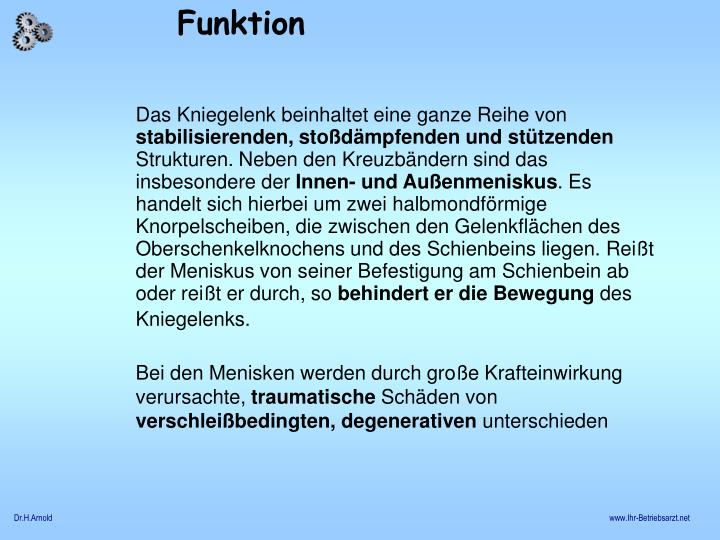 PPT - Knie - Meniskus PowerPoint Presentation - ID:1054748
