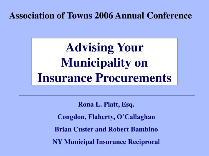 association of towns 2006 annual conference n.