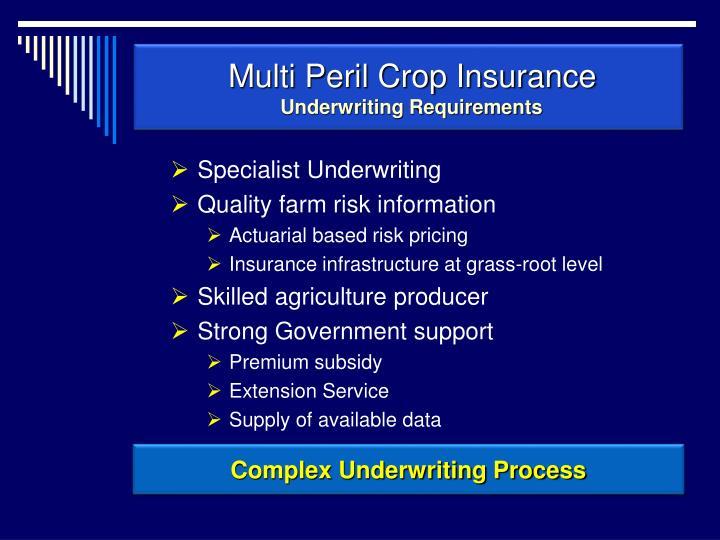 Multi Peril Crop Insurance