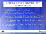 combined cycle power plant performance