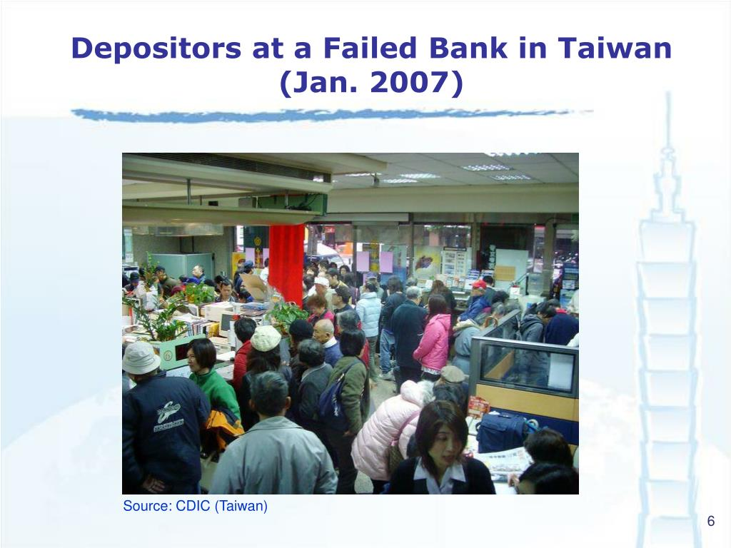 Depositors at a Failed Bank in Taiwan