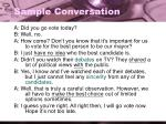 sample conversation