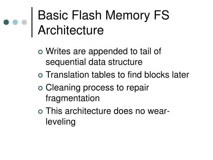 Basic Flash Memory FS Architecture