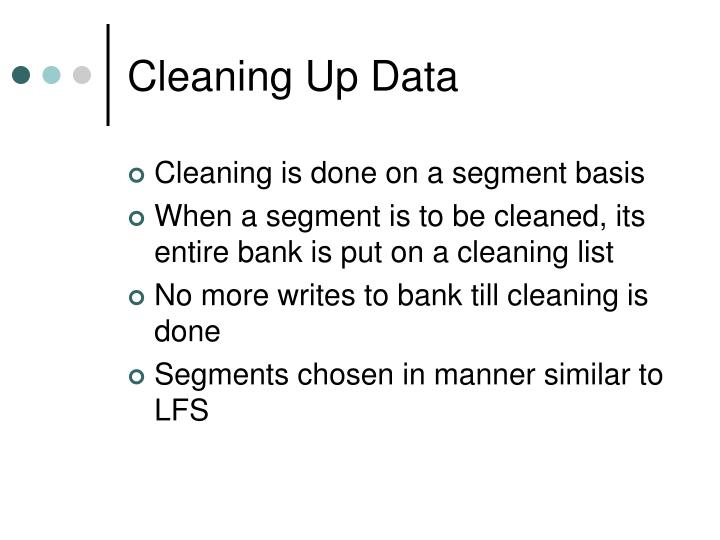 Cleaning Up Data