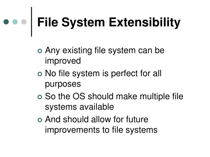 File system extensibility