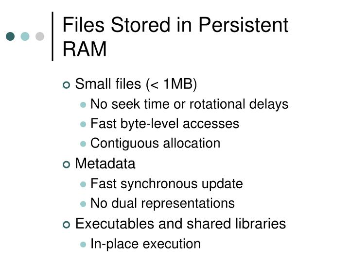 Files Stored in Persistent RAM