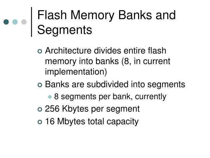 Flash Memory Banks and Segments