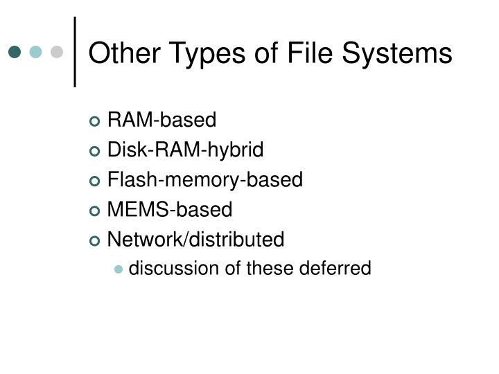 Other Types of File Systems