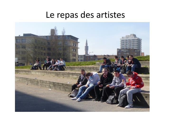 Le repas des artistes