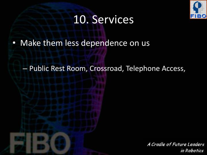 10. Services