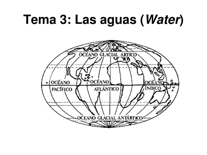 tema 3 las aguas water n.