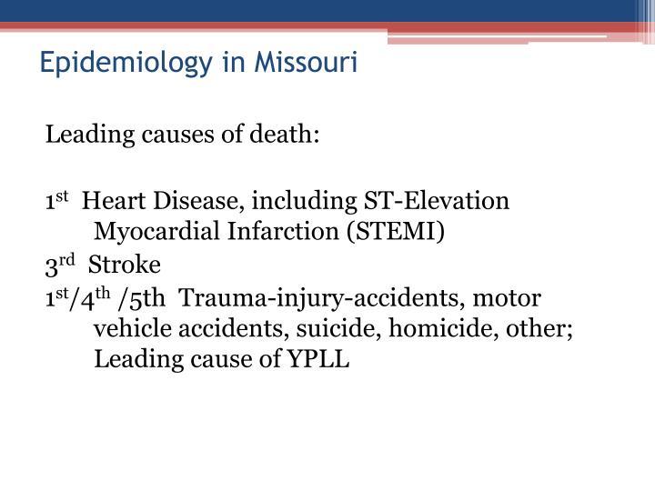 Epidemiology in Missouri