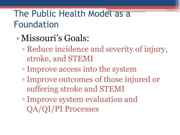 The public health model as a foundation