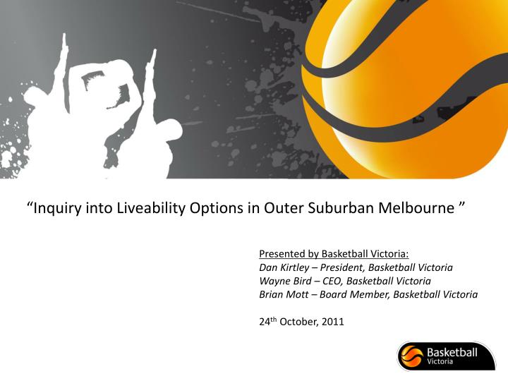 inquiry into liveability options in outer suburban melbourne n.