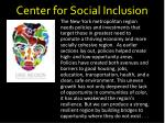 center for social inclusion