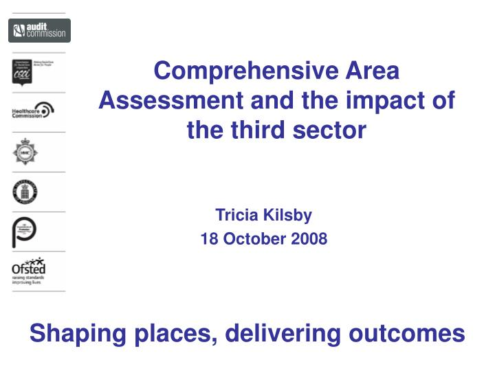 comprehensive area assessment and the impact of the third sector n.