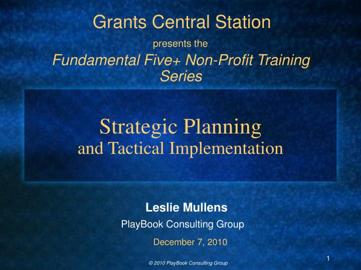 strategic planning and tactical implementation n.