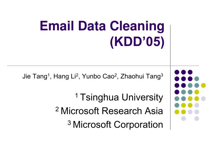 email data cleaning kdd 05 n.