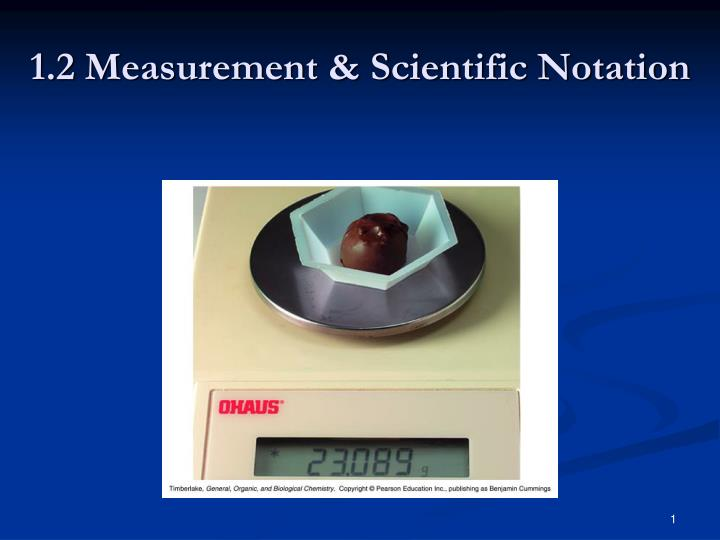 1 2 measurement scientific notation n.