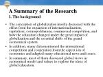 a summary of the research 1 the background5