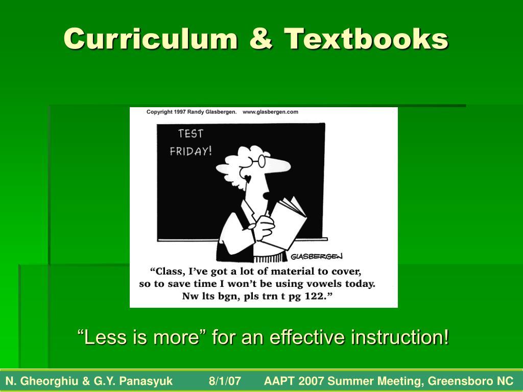 Curriculum & Textbooks