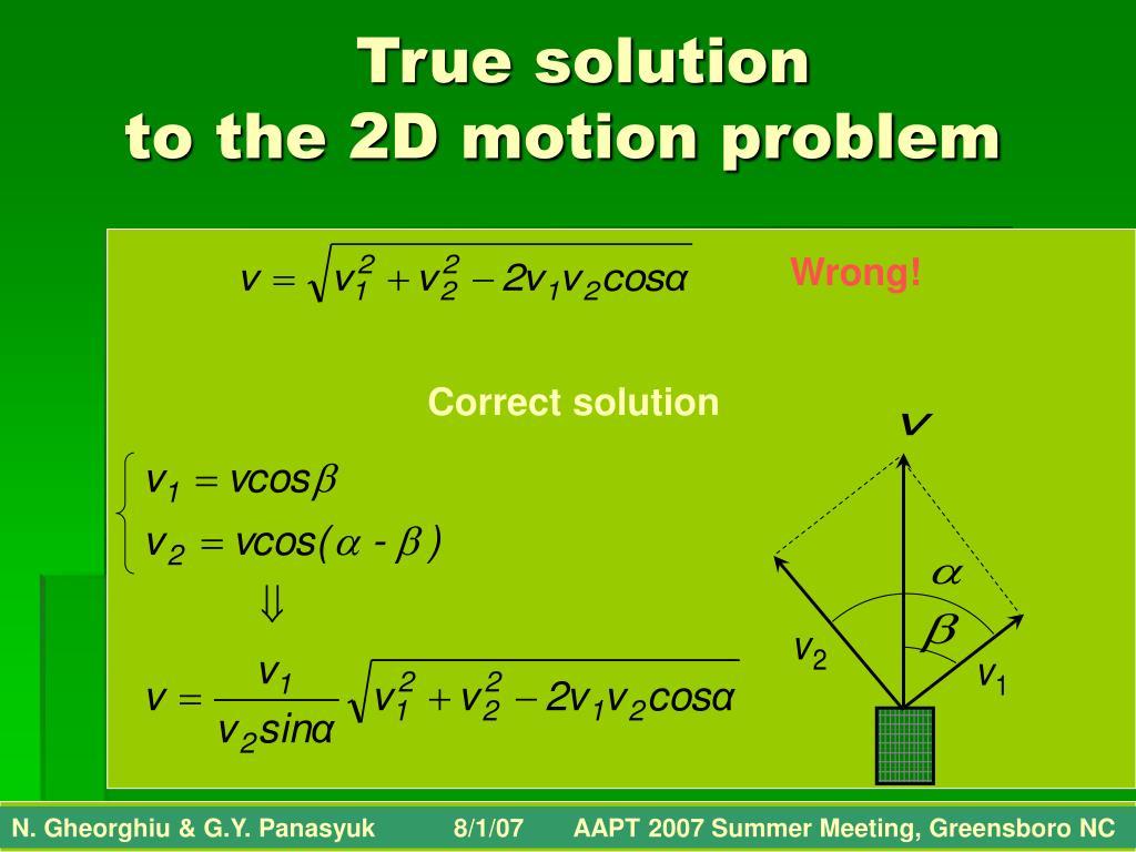 True solution