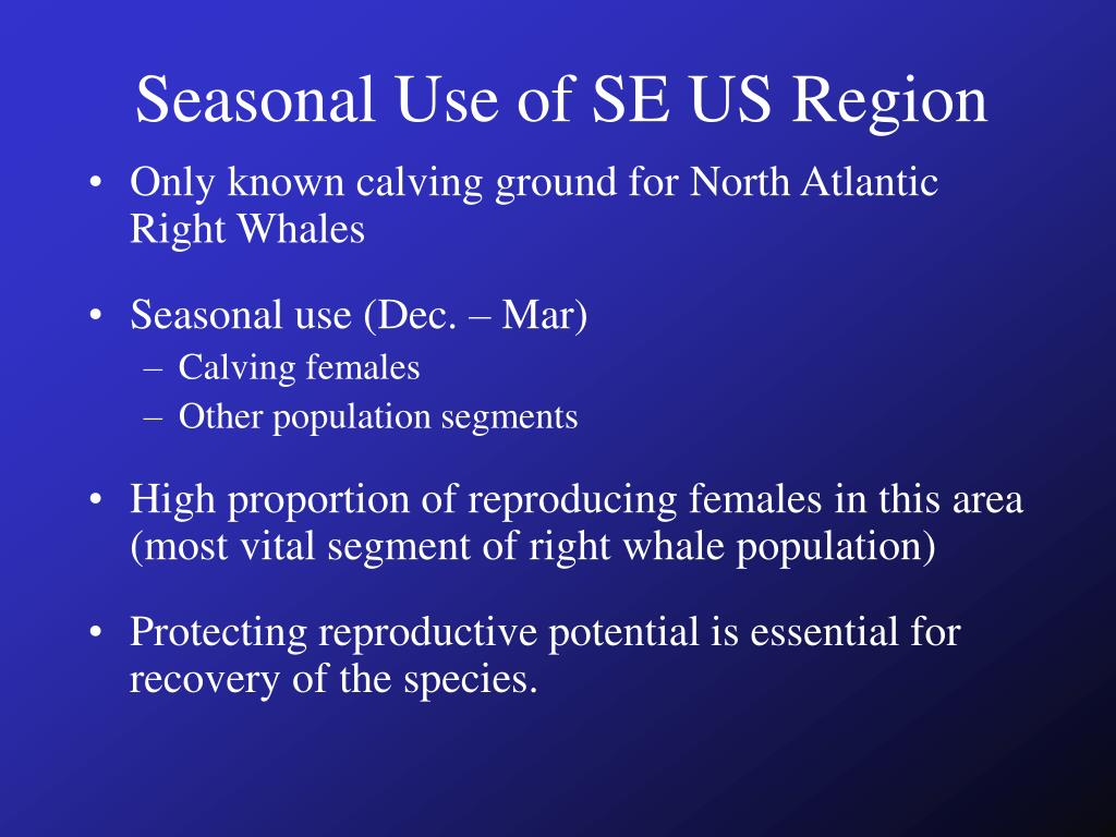 Seasonal Use of SE US Region